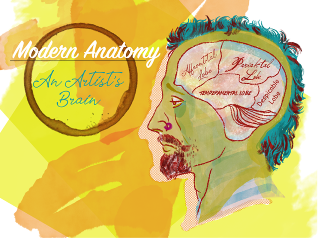 concept art artist artists brain digital photoshop bright colorful texture anatomy modern funny pun satire kinder kinderboek kinderboeken tekenaar illustratie engels nederland