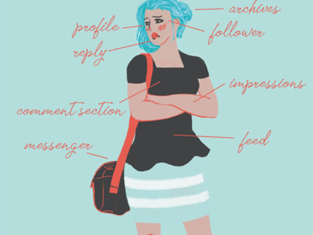 modern anatomy social media manager facebook twitter instagram follower infographic colorful contemporary abstract illustration aumenstudios aumen kinder kinderboek kinderboeken tekenaar illustratie engels nederland