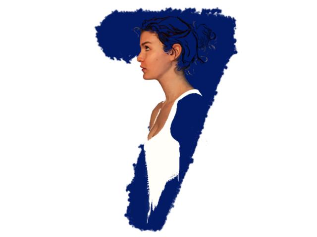 beautiful red woman portrait illustration digital oil numerology astrology mystical 1 4 7 aumenstudios kinder kinderboek kinderboeken tekenaar illustratie engels nederland