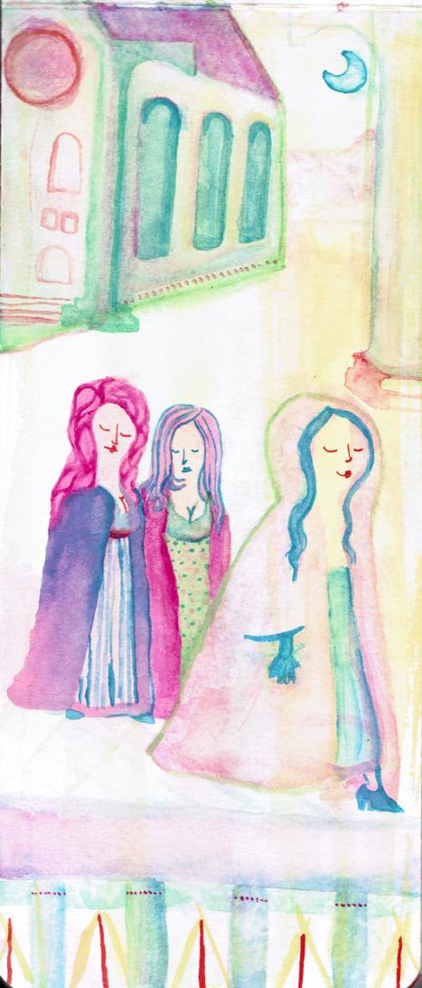 sketch illustration illustrator Nederland English Au+MenStudios aumen watercolor unique colorful women vrouwen women's day international design Rotterdam Zwijndrecht grafisch ontwerp